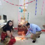 Diwali Puja Deepti ma'am and Amit sir