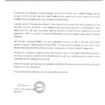 R k mission appreciation letter