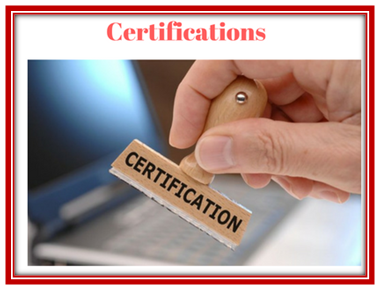 Certificatations accuster