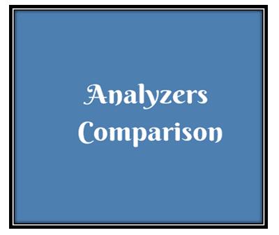 analyzers comparison