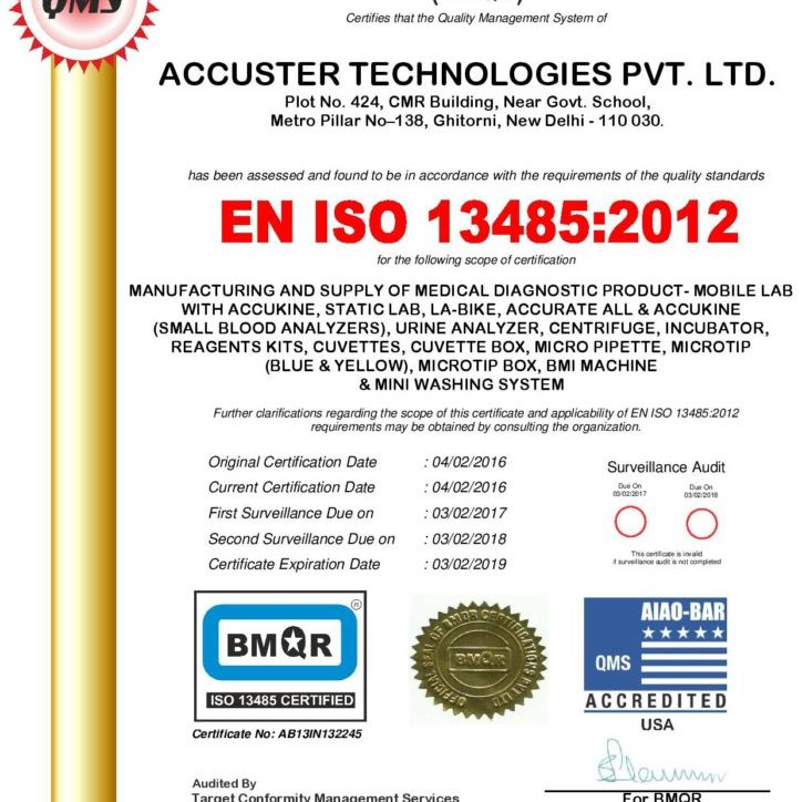 ISO Certificate Accuster